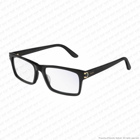 Cartier - Ct0005O Black (010) / 55-17-145 Eyeglasses