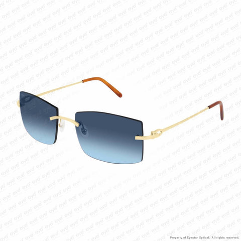 Cartier - Ct0005Rs Gold/blue Flash Gradient (001) Sunglasses