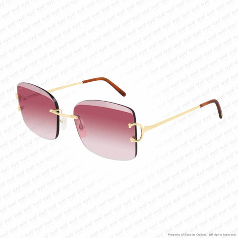 Cartier - Ct0007Rs Gold/red Pink Gradient (001) Sunglasses