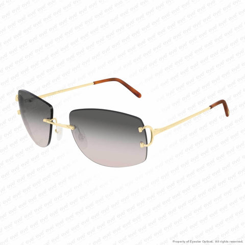 Cartier - Ct0008Rs Gold/grey Rose Gradient (001) Sunglasses