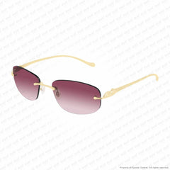Cartier - Ct0026Rs Gold/mauve Pink Gradient (001) Sunglasses