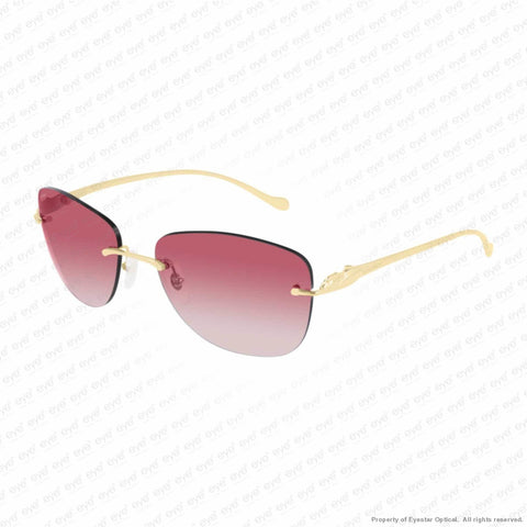 Cartier - Ct0027Rs Gold/mauve Pink Gradient (001) Sunglasses