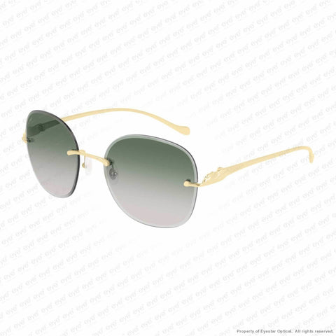 Cartier - Ct0028Rs Gold/green Gradient (001) Sunglasses