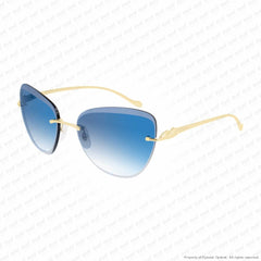 Cartier - Ct0032Rs Gold/blue Gradient (002) Sunglasses