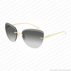 Cartier - Ct0032Rs Gold/grey Gradient Anti-Reflect (001) Sunglasses