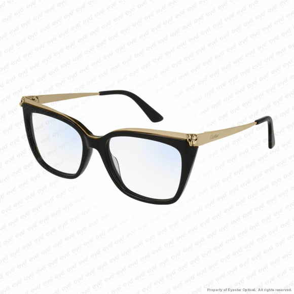 Cartier - Ct0033O Black & Gold (001) Eyeglasses