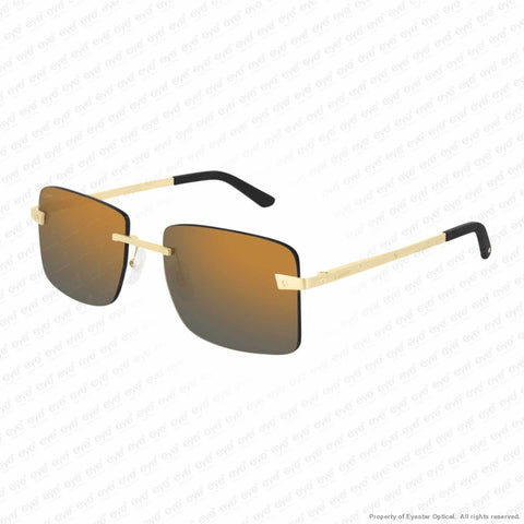 Cartier - Ct0033Rs Gold/grey Bronze Flash (001) Sunglasses