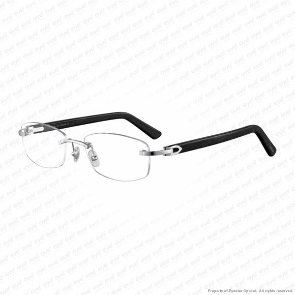 Cartier - Ct0048O Silver & Black (003) Eyeglasses