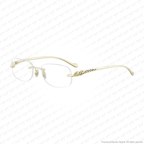 Cartier - Ct0058O (001) Smooth Gold / Black Lacquer Decor Eyeglasses