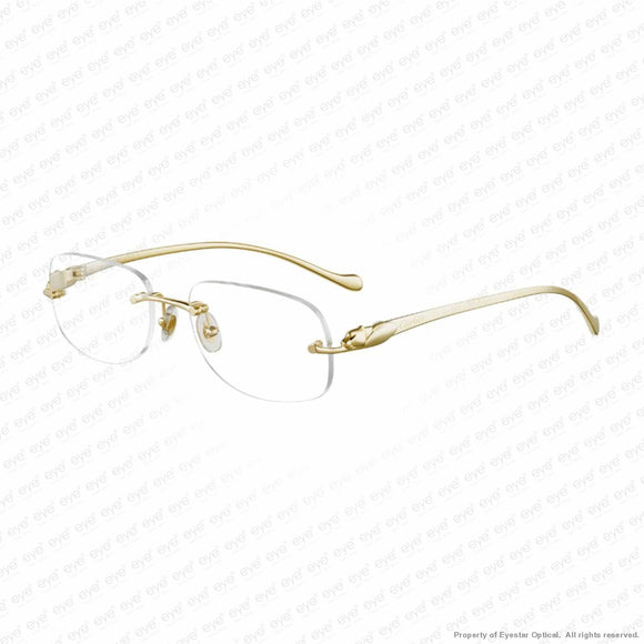 Cartier - Ct0058O Gold & Smooth Panther (002) Eyeglasses