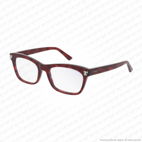 Cartier - Ct0144O Red Havana & Silver (003) Eyeglasses