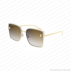 Cartier - Ct0199S Silver & Gold/grey Brown Gradient (001) Sunglasses
