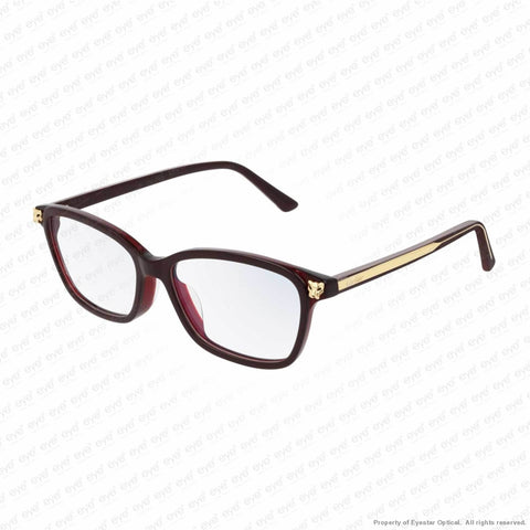 Cartier - Ct0206Oa Red Havana & Gold (004) Eyeglasses