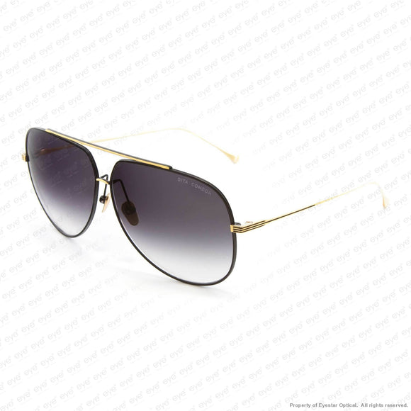 Dita - Condor Satin Black & Gold/dark Grey Gradient Sunglasses