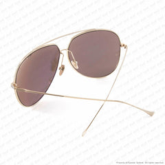 Dita - Condor White Gold & Brown/gold Mirror Sunglasses