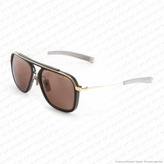 Dita-Lancier - Lsa-400 Black & White Gold/brown Polarized Dita-Land Lens Sunglasses