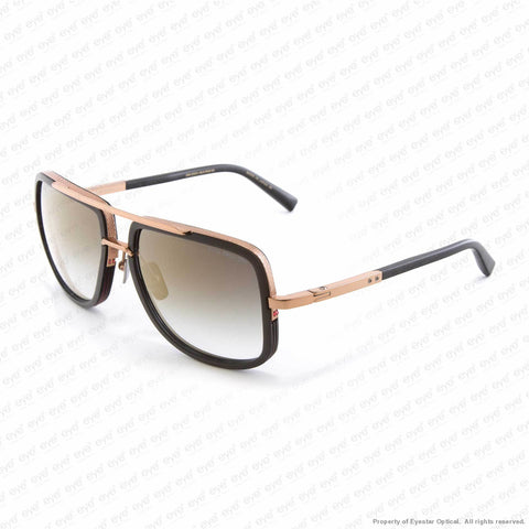 Dita - Mach One Black & Rose Gold/grey Gradient Gold Flash Sunglasses