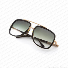 Dita - Mach One Matte Black Antique 12K Gold/g15 Ar Gradient Sunglasses