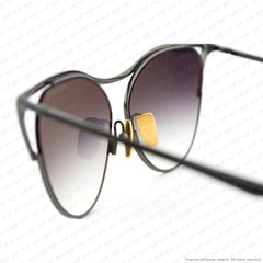 Dita - Revoir Black Gold/grey Gradient Sunglasses