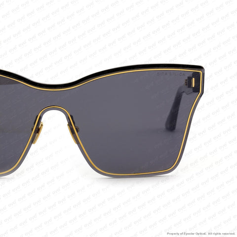Dita - Silica Black & Gold/dark Grey Flash Sunglasses