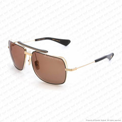 Dita - Symeta-Type 403 White Gold & Black/brown Sunglasses