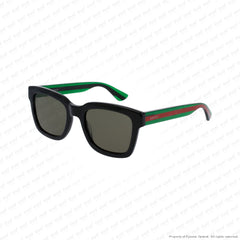 Gucci - Gg0001S Black Green/green (002) Sunglasses