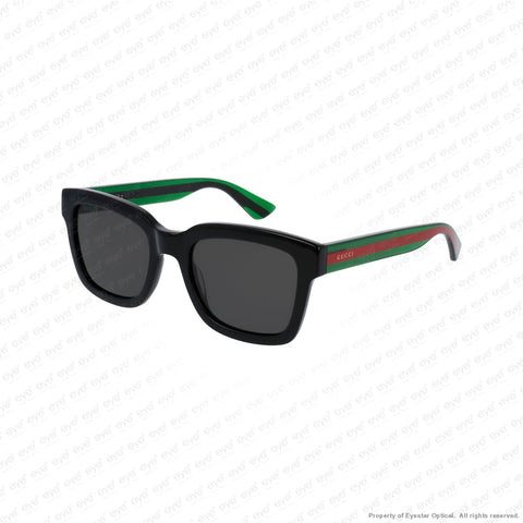 Gucci - Gg0001S Black Green/grey Polarized (006) Sunglasses
