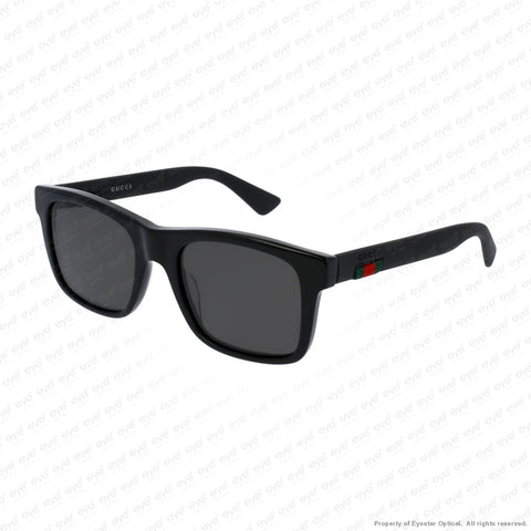 Gucci - Gg0008S Black/grey Polarized (002) Sunglasses
