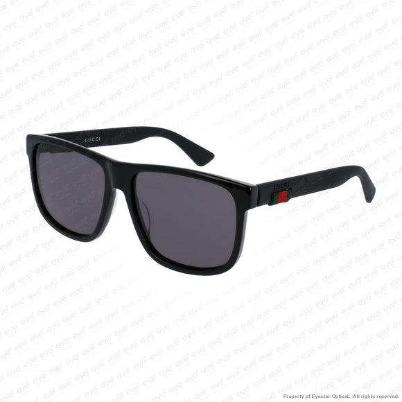 Gucci - Gg0010S Black/dark Grey (001) Sunglasses