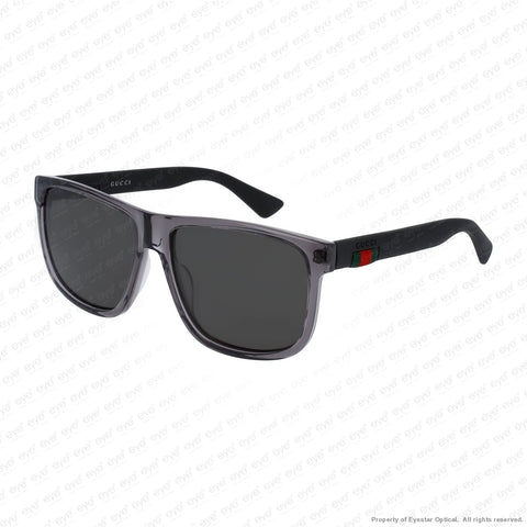 Gucci - Gg0010S Grey Black/grey Polarized (004) Sunglasses