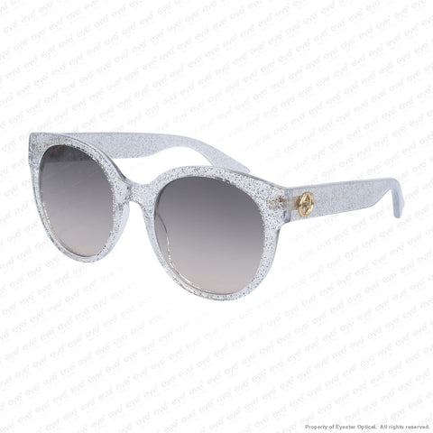 Gucci - Gg0035S Silver Sparkle/brown Gradient (007) Sunglasses