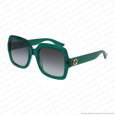 Gucci - Gg0036S Green Sparkle/grey Gradient (006) Sunglasses