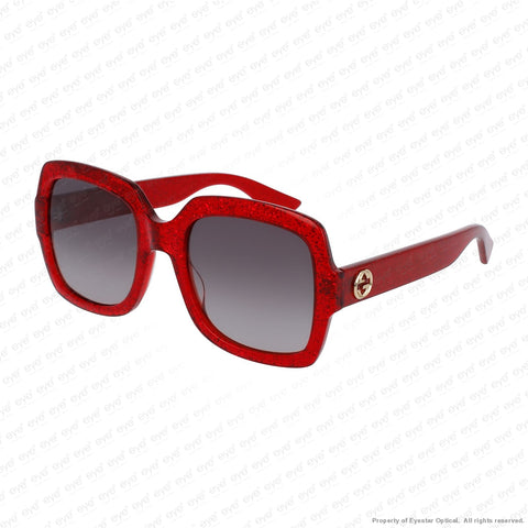 Gucci - Gg0036S Red Sparkle/brown Gradient (005) Sunglasses