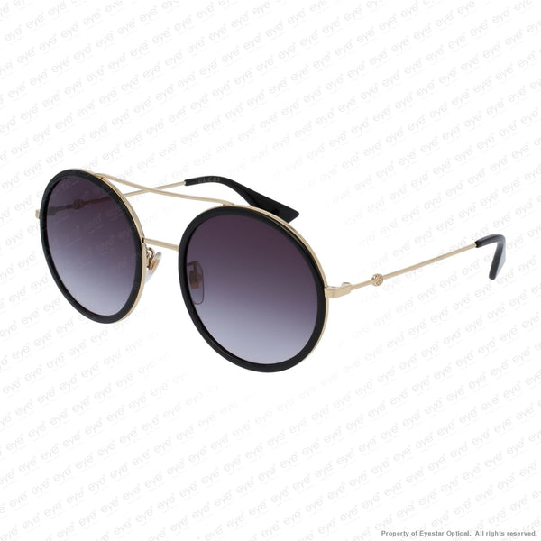 Gucci - Gg0061S Black & Gold/grey Gradient (001) Sunglasses