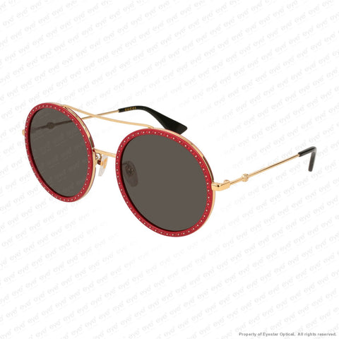 Gucci - Gg0061S Red Sparkle & Gold/grey (018) Sunglasses