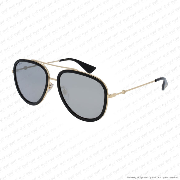 Gucci - Gg0062S Black & Gold/ Gold Flash (001) Sunglasses