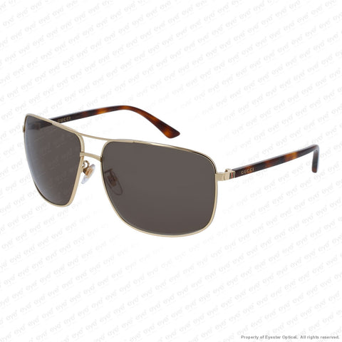 Gucci - Gg0065Sk Gold & Havana/green (004) Sunglasses
