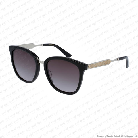 Gucci - Gg0073S Black Silver/grey Gradient (001) Sunglasses