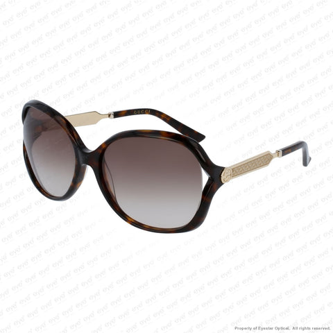 Gucci - Gg0076S Havana & Gold/brown Gradient (003) Sunglasses