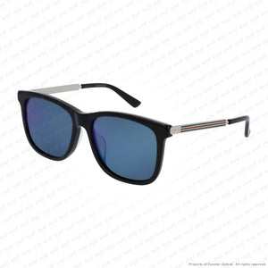 Gucci - Gg0078Sk Black & Silver/blue Mirror (001) Sunglasses