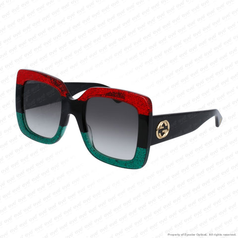 Gucci - Gg0083S Red Black Green/grey Gradient (001) Sunglasses