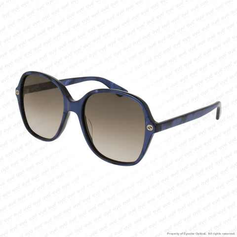 Gucci - Gg0092S Blue/brown Gradient (005) Sunglasses