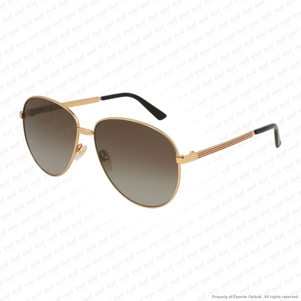 Gucci - Gg0138S Gold/brown Gradient Polarized (005) Sunglasses