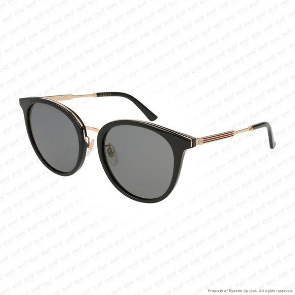 Gucci - Gg0204Sk Black & Gold/grey (001) Sunglasses