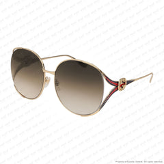 Gucci - Gg0225S Gold/brown Gradient (002) Sunglasses