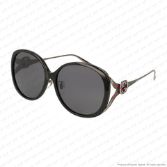Gucci - Gg0226Sk Black & Ruthenium/grey (002) Sunglasses