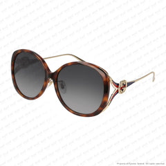Gucci - Gg0226Sk Havana & Gold/grey Gradient (004) Sunglasses