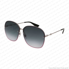 Gucci - Gg0228S Red Sparkle & Ruthenium/grey Gradient (004) Sunglasses