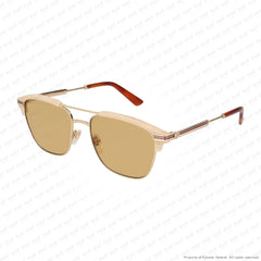 Gucci - Gg0241S Ivory & Gold/brown (004) Sunglasses