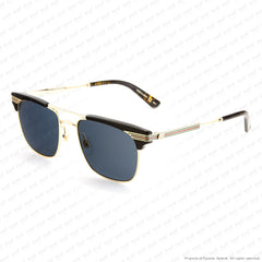 Gucci - Gg0287S Black & Gold/grey (001) Sunglasses